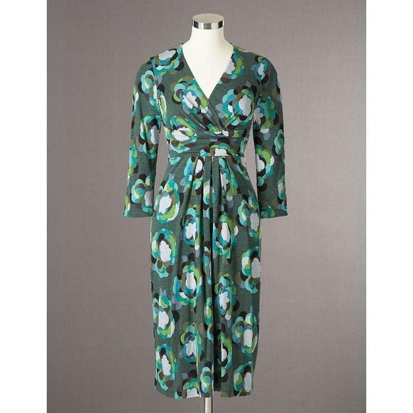 0a3377194d6 Boden Dresses   Skirts - Boden Drapey Jersey Dress Green Printed Size 8